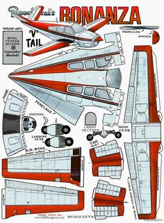 55 Piece Paper Plane Model Samples – DIY ~ Green Finger – kurt – Join in the world of pin Paper Airplane Models, Model Airplanes, Paper Planes, Cardboard Toys, Paper Toys, Imprimibles Toy Story Gratis, Paper Aircraft, Free Paper Models, 3d Cnc