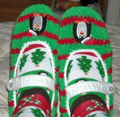 penguin slipper socks...I have ones like these mines are red and black