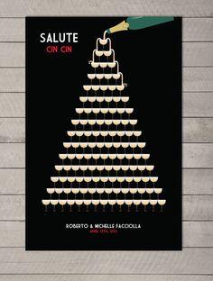wedding guest book alternative champagne tower by MDBWeddings, $48.00
