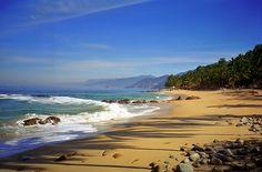 Beaches of Puerto Vallarta (South Zone) http://www.puertovallarta.net/what_to_do/puerto-vallarta-beaches.php - #puertovallarta #vallarta #jalisco #mexico #vacation #trip #fun #safe #travel #pvr #whattodo #beach #beaches #sunset #tropical