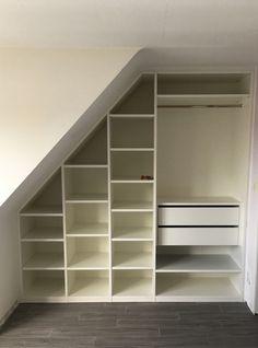 Attic Bedroom Storage, Attic Master Bedroom, Attic Bedroom Designs, Loft Storage, Attic Rooms, Room Ideas Bedroom, Closet Bedroom, Bedroom Decor, Closet Under Stairs