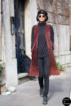 vest & the rest. #LauraJames in Milan.