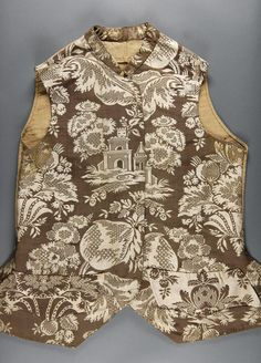 Philadelphia Museum of Art - Collections Object : Man's Waistcoat 18th Century Clothing, 18th Century Fashion, Men's Waistcoat, Philadelphia Museum Of Art, Power Dressing, White Silk, Men's Fashion, Menswear, Costume