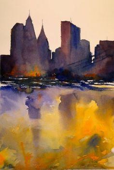 Fernando+Pena+-+Acuarelas+-+Watercolors:+Perfiles+de+New+York