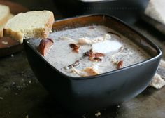 """The Urban Poser:: Meat Lovers Cream Of Mushroom, """"Not Really Wild Rice""""Soup(Paleo,Dairy/Grain Free)"""
