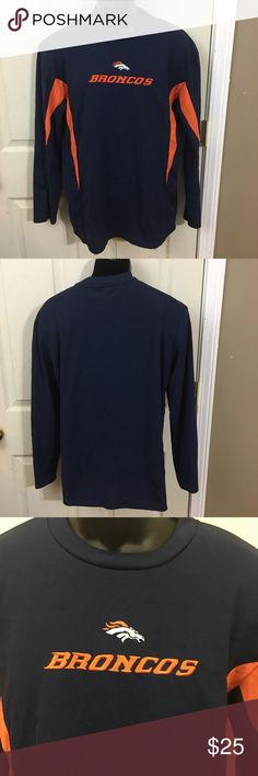 Denver Broncos NFL Team Apparel Shirt Size M This is a men's Denver Broncos NFL Team Apparel Light Long Sleeve Shirt Size Medium. This shirt is in excellent used condition with no visible defects. Please take a look at all photos for condition and if you have any questions feel free to ask. NFL Shirts Tees - Long Sleeve