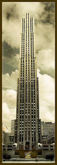 Architecture - Rockefeller Center New York City USA Rockefeller Center, Art Deco, Places To See, The Places Youll Go, Photo New York, Ville New York, Panoramic Photography, Travel Photography, Voyage New York