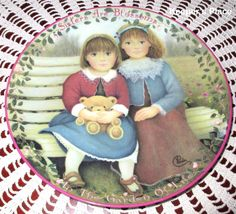 SISTERS ARE BLOSSOMS Plate 1st Issue In Kindred Moments Series By Chantal Poulin