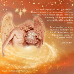 Archangel Uriel courtesy of Raleigh Valentine Archangel Uriel Prayer, Archangel Prayers, Archangel Raphael, Catholic Archangels, Four Archangels, Catholic Prayers, Prayer Images, Angel Guide, Angel Warrior