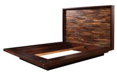 Crafted by hand from sustainably harvested and reclaimed Peroba and Acacia woods, this stylishly elegant bed juxtaposes warm patinas with clean lines. Dimensions: 80.5×93.25×58.25 Share this...