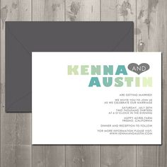 Multicolor Modern Ombre Wedding Invitation by SimplySmittenDesigns, $15.00