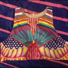Sports Bikini Top Fun and sporty pattern. Size L but trust me, this is a MEDIUM! Swim Bikinis