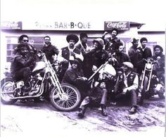 In honor of the 43rd annual Black Bikers Week in Murtle, a tradition among African American motorcycle engineers and enthusiasts (Temporary Pin):   East Bay Dragons Motorcycle Club, ca 1960s. Founded in Oakland California in 1959.