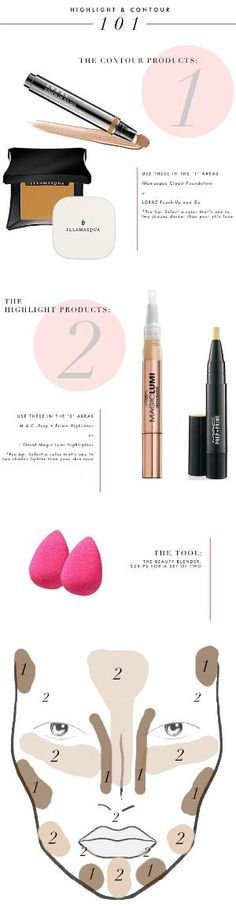 guide how to highlight and contour your face step by step guide by AislingH
