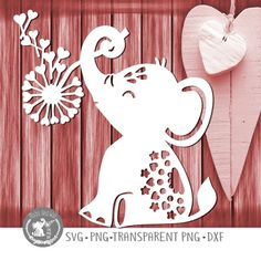 Excited to share this item from my shop: Elephant hearts SVG PNG DXF digital cutting file/elephant svg/valentine elephant/loveheart/elephant love svg/dandelion/papercutting template Henna Elephant, Elephant Love, Cut Paper Illustration, Heart Stencil, Cricut Vinyl, Cricut Cards, Paper Cut Design, Paper Crafts, Diy Crafts