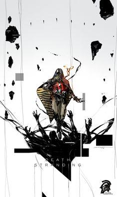 Death Stranding Fan Art - Author Momo・Λ Character Concept, Character Art, Concept Art, Death Stranding Ps4, Dead Stranding, Fan Art, Kojima Productions, Bd Comics, Video Game Art