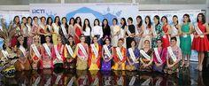 Foto 34 Finalis Miss Indonesia 2016, yang merupakan perwakilan dari 34 provinsi yang ada di Indonesia, malam puncak pnerghargaan akan digelar tanggal 24/02/