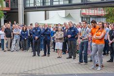 """Am Tag des """"Rollout"""", Besuch der Oberbürgermeisterin.  #solarcar #brakequip #bremsleitung #wagener #hochschulebochum #ThyssenKruppSunRiser"""