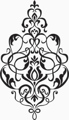 Small Damask Wall Decal, Vinyl, Sticker, Brocade