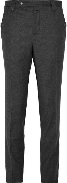 $795, Lanvin Slim Fit Wool And Cashmere Blend Flannel Trousers. Sold by MR PORTER. Click for more info: https://lookastic.com/men/shop_items/328825/redirect