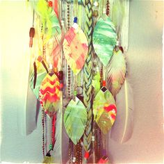 dreamcatcher painted feathers detail with @Flora Bowley