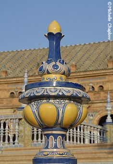 © Michelle Chaplow Brightly coloured ceramics showcased at the Plaza de Espana Tourist Map, Why Do People, Sierra, Andalucia, Plaza, Html, Cathedral, Castle, The Incredibles