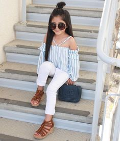 Kids outfits girls, cute girl outfits, little girl outfits, cute outfits fo Stylish Baby Girls, Cute Little Girls Outfits, Kids Outfits Girls, Toddler Girl Outfits, Stylish Kids, Cute Outfits, Cute Kids Fashion, Little Girl Fashion, Toddler Fashion