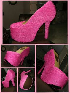 Shoe out of cardboard. Barbie Theme Party, Barbie Birthday Party, Girl Birthday, Party Themes, Birthday Parties, Fancy Nancy, Spa Party, Halloween Party, Diy And Crafts