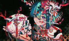 'Anime Girl - Flourishing Death' Poster by Anime Art Girl, Manga Art, Pretty Art, Cute Art, Character Inspiration, Character Art, Wallpaper Animé, Arte Cyberpunk, Sound Art