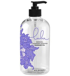 LULU SENSUAL LAVENDER MASSAGE OIL... Lulu Sensual Lavender Massage Oil is beautifully designed in 16oz bottles with a pleasant, calming and light Lavender aroma. Suitable for normal or dry skin, Lulu Sensual Lavender Massage Oil is ideal for sensual and relaxation massages. It is the perfect Oil to relieve tight, sore muscles, and aids with headaches, sleeplessness and anxiety or stress. If you suffer from eczema and psoriasis, this Lavender Oil will improve appearance & calm the skin. Yo