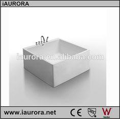 Bañera bebé 120 x 120 cm grifo incluido tamaño pequeño bañera de hidromasaje