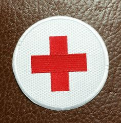 Iron-On ''Red Cross'' Embroidered Patch by LostThenFoundPatches