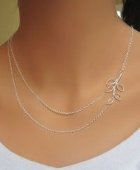 Branch double strand necklace is Silver