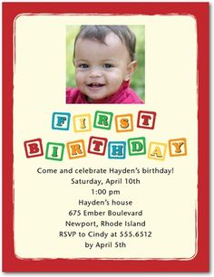 Well if that's not a perfect invite for Hayden's birthday