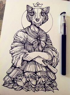 the_cat_queen_by_wolfskulljack-d7huq5j.jpg (772×1034)