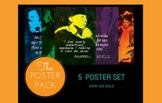 Grab your Favorite musician in these A1 size (HUGE!) posters! Five famous artists with their inspirational quotes.