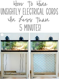 A super quick and easy trick for hiding ugly cords while, at the same time, adding color and flair to your home decor!                                                                                                                                                     More