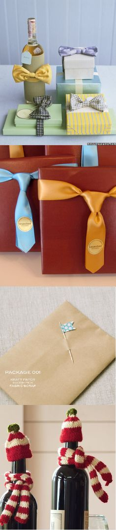 Gifting Ideas.  I think the bow tie and tie presents are sooo cute for groomsmen gifts!!