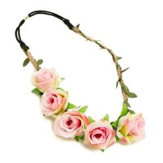 $7 *Bundled* Rose Garland Headband Pink roses leaves and twine adorn this floral crown headband. Is made to be worn a little to the side but you can wear it as you like. Brand new still in packaging with tags. The finishing touch for your perfect summer boho/festival look.  *$7 bundled* GoJane Accessories Hair Accessories