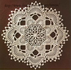 Doily - Chart | crocheted doilies | Pinterest                                                                                                                                                     More