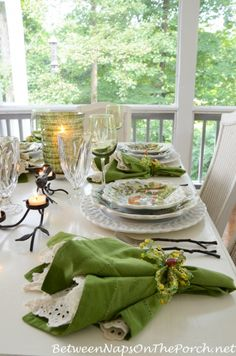 Spring Summer Table Setting