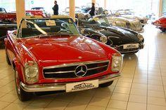 Mercedes Benz 230SL, 1966    1966 Mercedes Benz 230SL at Auto Salon Singen, Germany. Jaguar E-Type behind.