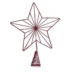 Wilko Festive Red Star Tree Topper