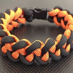 Bracelet paracorde 20 cm tressage piranha