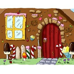 Candy House Digi Stamp in Digital images