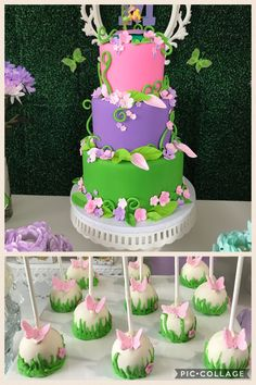 Tinker Bell Birthday cake and cake pops