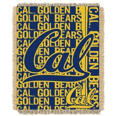 California Golden Bears Jacquard Throw Blanket by Northwest, Multicolor