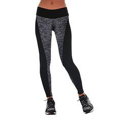 Women's Athletic Leggings - Womens Printed Leggings Pants for Yoga Workout Running Crossfit  Black Grey -- Read more at the image link.