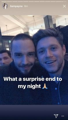 Liam posted this of him and Niall we love brotherly love !