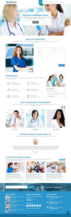 Medihere is a fully responsive Bootstrap based HTML5 and CSS template. This beautiful #template is specially designed for #medical, #hospital or clinical business corporations. It also can be used other business or portfolio #websites.